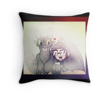 Markiplier And Toothless Throw Pillow