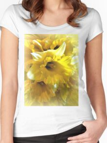 Spring Daffodils  Women's Fitted Scoop T-Shirt