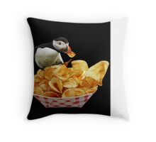 THESE ARE MY PUFFIN CHIPS -THROW PILLOW Throw Pillow