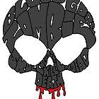 Word Skull Black by Skree