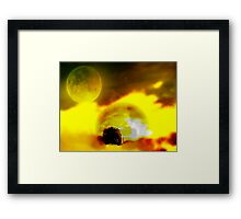 The Moon, The Sun, And Nature Kissed Framed Print