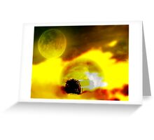 The Moon, The Sun, And Nature Kissed Greeting Card
