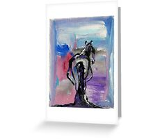 Strong - Pregnant Mare - Horse Art by Valentina Miletic Greeting Card