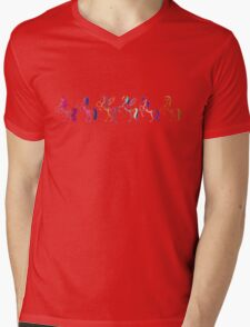 My Little Pony Minimal Mane 6 Mens V-Neck T-Shirt