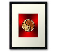 Leo & Tiger Yang Wood Framed Print