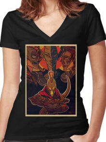 Nerevarine Vs Tribunal Women's Fitted V-Neck T-Shirt
