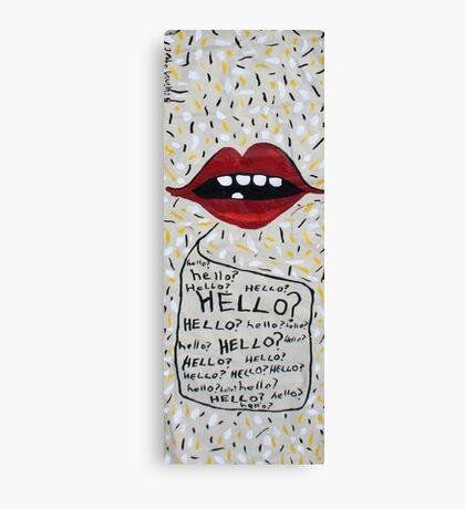 Hello? Canvas Print