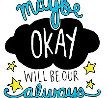 The Fault In Our Stars quote drawing by miasdrawings