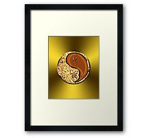 Leo & Tiger Yang Wood Framed Print