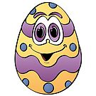 Easter Egg Cartoon by Graphxpro