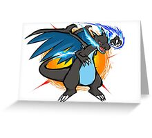 Mega Charizard X   Fire Punch Greeting Card