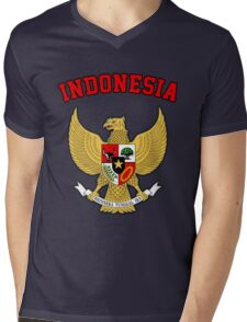Indonesia Coat of Arms Mens V-Neck T-Shirt