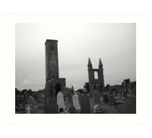 Death cathedral Art Print