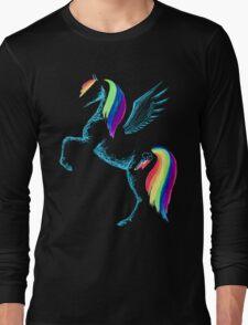 MLP Rainbow Dash Minimal Drawing Long Sleeve T-Shirt