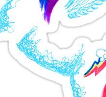 MLP Rainbow Dash Minimal Drawing Sticker