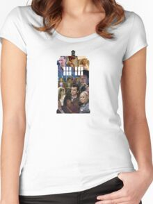 Doctor who- companions  Women's Fitted Scoop T-Shirt