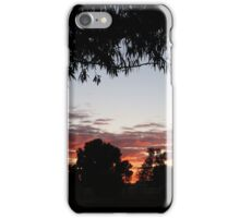 Sun up in the west iPhone Case/Skin