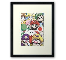 Super Mario Party Characters Framed Print