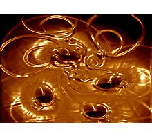 Golden Abstract Photographic Print
