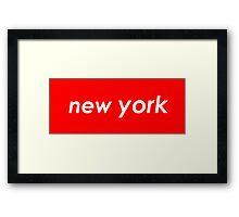 New York - Red Framed Print