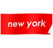 New York - Red Poster