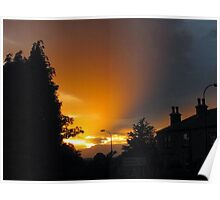 Sunset in England Poster