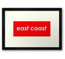 East coast - Red Framed Print