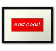 East coast - Red Framed Print