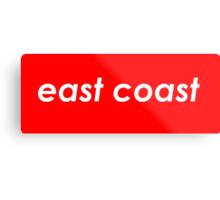 East coast - Red Metal Print