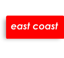 East coast - Red Canvas Print