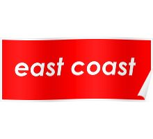 East coast - Red Poster