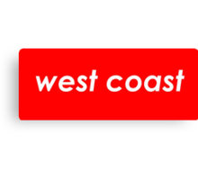 West coast - Red Canvas Print