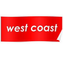 West coast - Red Poster