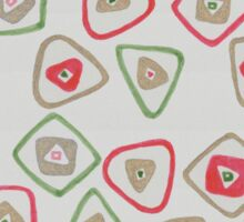 green, red, and gold squares and triangles Sticker
