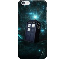 Flying Tardis on Space iPhone Case/Skin