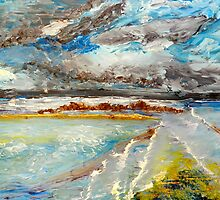 Storm Coming at Austinmer Beach by PamelaMeredith