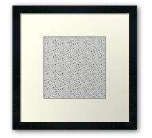grey spots Framed Print