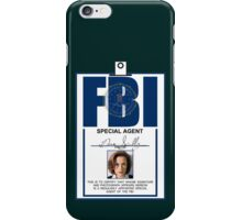 Dana Scully ID Badge  iPhone Case/Skin