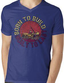 Born to Build (pink) Mens V-Neck T-Shirt