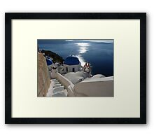 Stairway to Blue Domed Church Framed Print