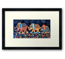 'Elephant Conga Line' - The Jungle is Jumping! Framed Print
