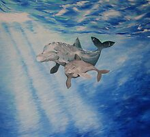 Dolphins by RuthBaker