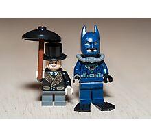 Batman scuba and The penguin Photographic Print