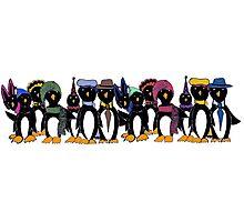 Penguin hat parade Photographic Print