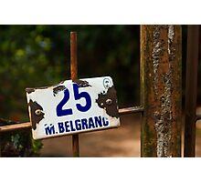25 M Belgrano Photographic Print