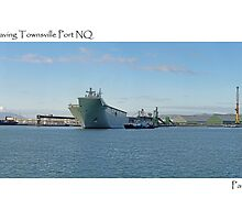 HMAS Canberra leaving Port of Townsville NQ by Paul Gilbert