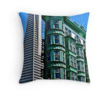 San Francisco Architectural Contrast Throw Pillow