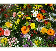 Bouquets For Sale Photographic Print