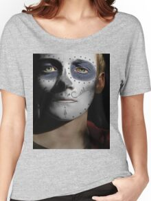 Jack Gleeson Day of the Dead, Dia de los Muertos, Makeup Women's Relaxed Fit T-Shirt