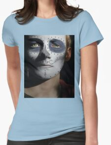 Jack Gleeson Day of the Dead, Dia de los Muertos, Makeup Womens Fitted T-Shirt